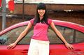 阳光般的少女与阳光般的小车