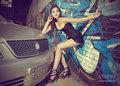 超短装欲满眼 长腿有容美女车模SHOW