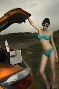 骨感美女带你评测MG6