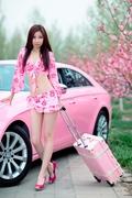 粉色系列之粉红豹去旅行 M.Benz CLS300