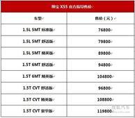 北汽绅宝X55成都上市 7.68万-11.98万元!