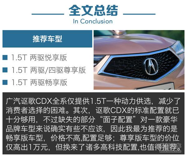 广汽讴歌CDX全系导购