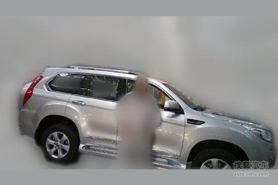 哈弗H9谍照再曝 外挂备胎/北京车展首发