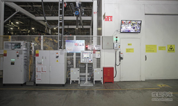 别克昂科威激光钎焊工位控制区