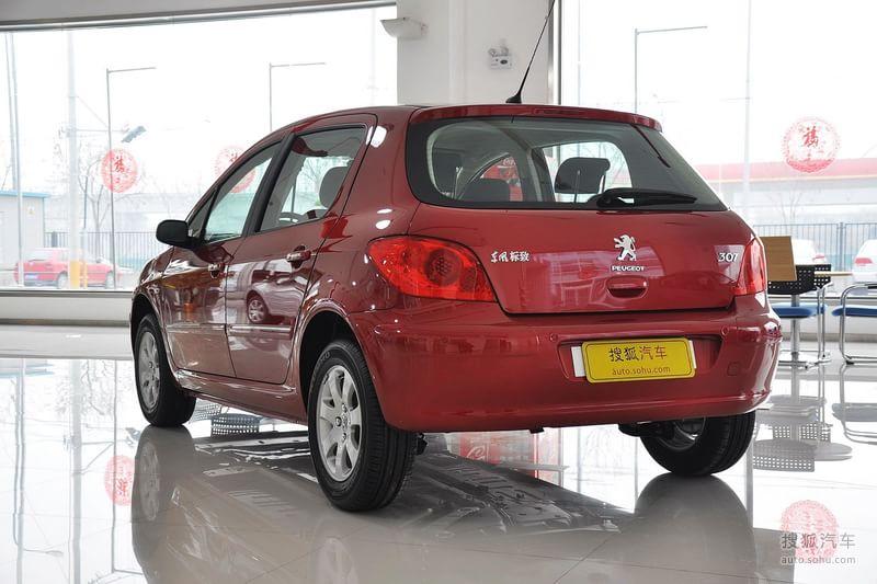 标致307两厢2010款1.6l 手自一体 舒适版外观新波尔多红m1222023图高清图片