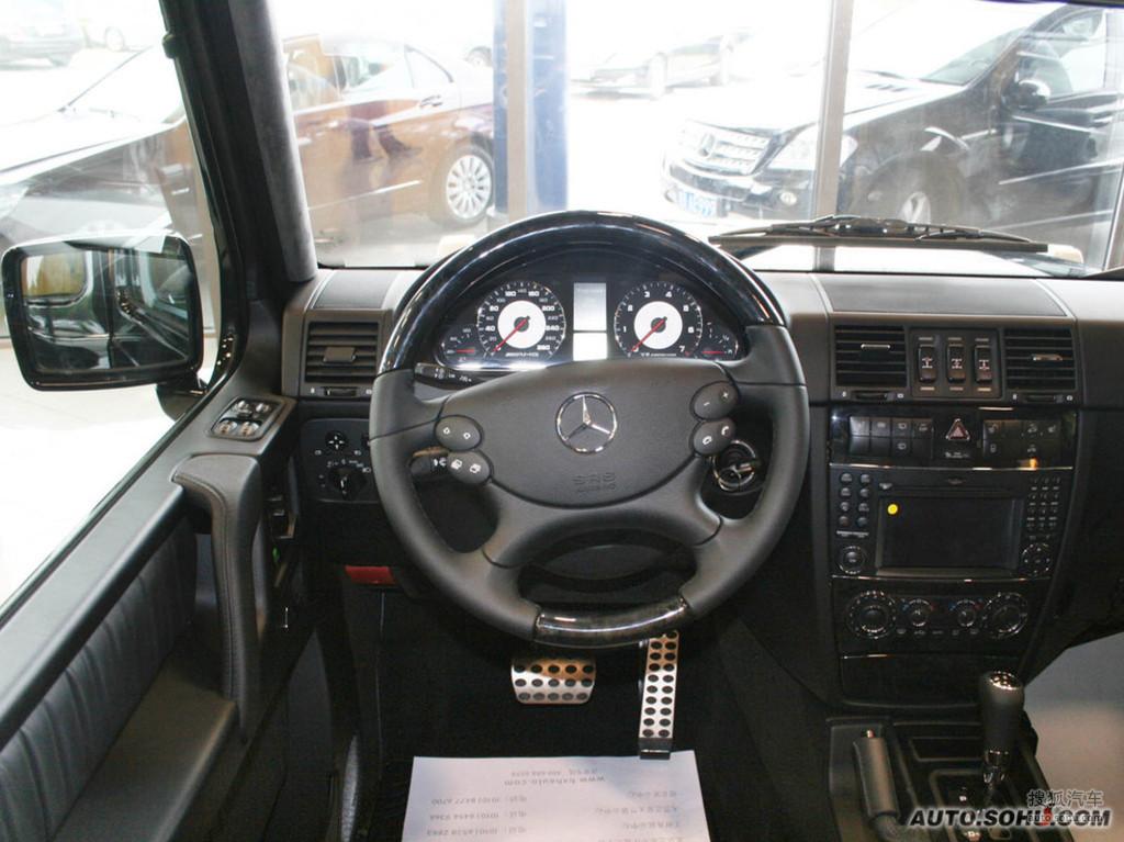 奔驰g级amg2009款g55 amg内饰g308815图片 图库高清图片