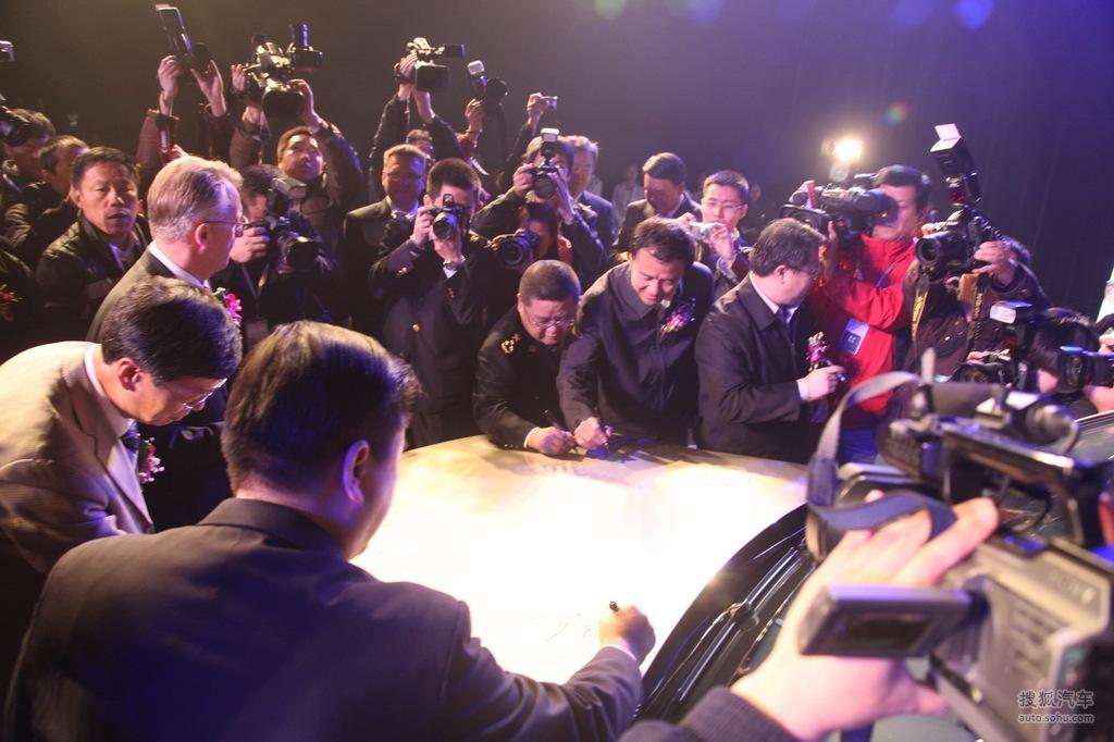 北京奔驰glk下线仪式现场实拍高清图片