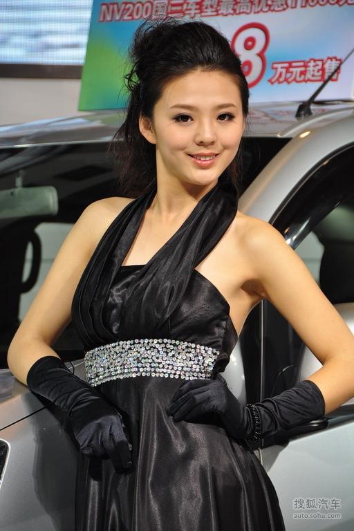青岛车展美女车模实拍(车模高清图:817255)