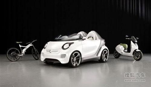 纯电驱动smart Forspeed概念车即将首发!