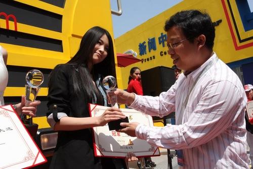 2011上海车展模特评选颁奖现场花絮