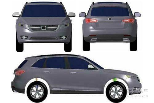 众泰三款SUV申报图曝光 造型以借鉴为主