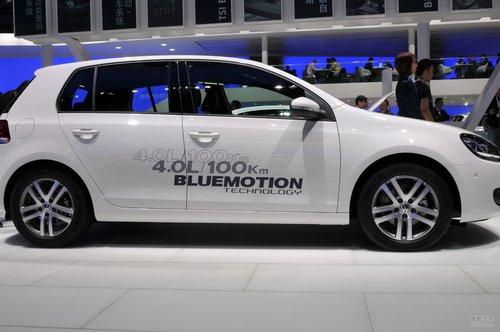 大众高尔夫Blue Motion车展实拍