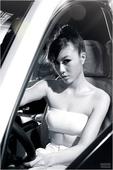 2011上海车展 雷诺车模刘竹宣