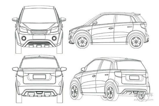 协调性尚可,体现了简式国际汽车设计公司扎实的设计功底.