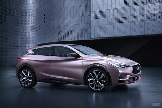 英菲尼迪   英菲尼迪q30概念车   概念车身上的设计元素. 高清图片
