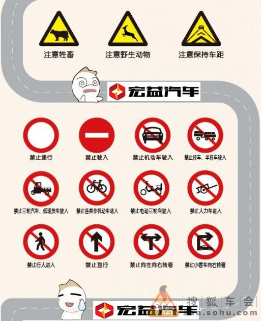 易混道路交通信号标志解析图片