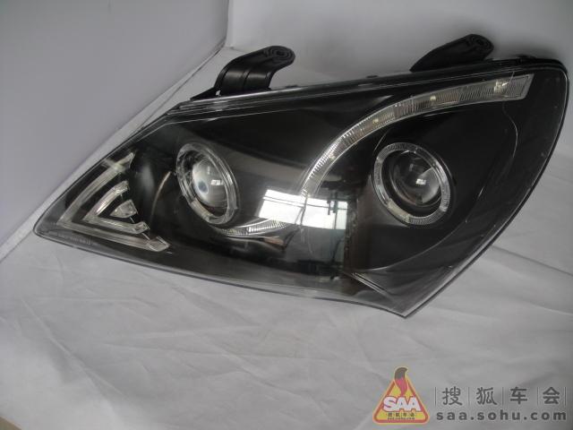 我的伊兰特车灯升级,双光透镜 led内眼 天使眼