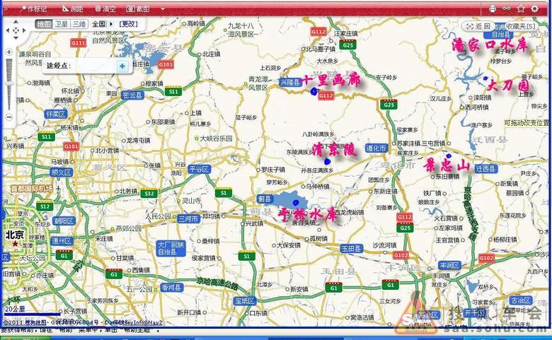 蓟县兴隆旅游地图