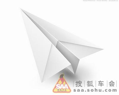 直线距离纸飞机折法