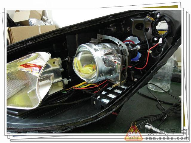 Пример установки би ксеноновых линз Koito Q5 в штатную фару Hyundai IX35