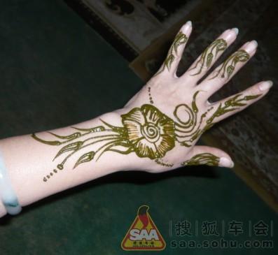 印度女人的美丽手绘