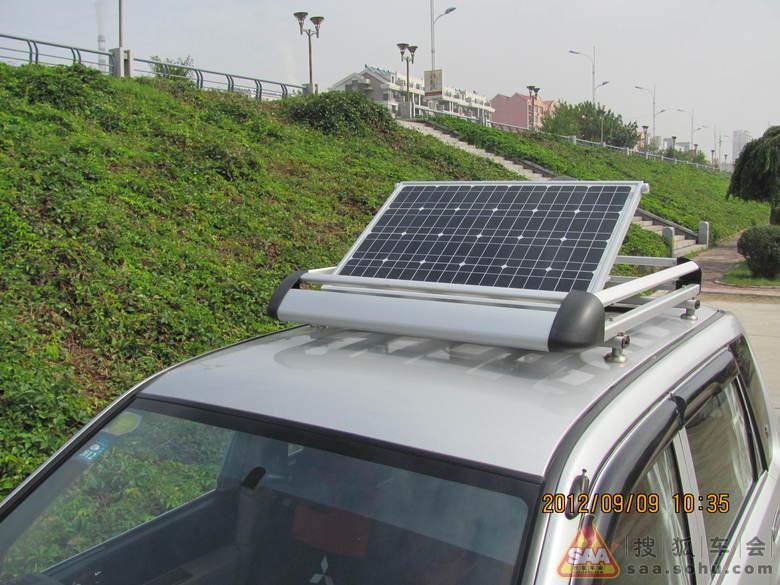 行李架加装太阳能发电板加装卫星电视接收小锅盖