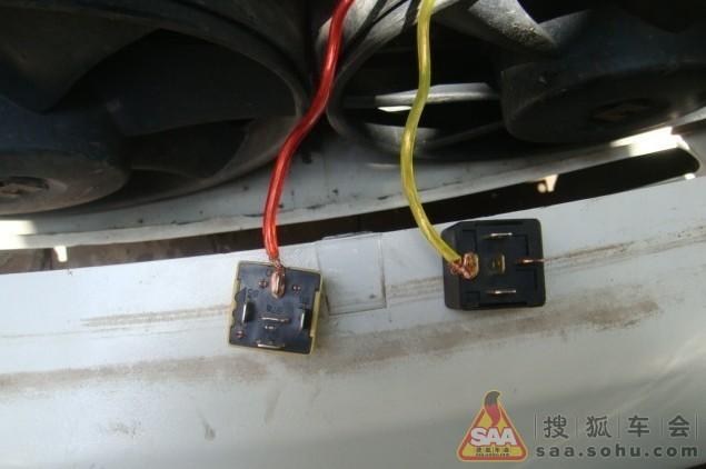 老富康风扇继电器电路图